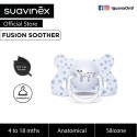 Suavinex Fusion BPA Free 4 to 18 Months Anatomical Silicone Soother (Blue Dalmatian)