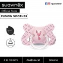 Suavinex Fusion BPA Free 4 to 18 Months Anatomical Silicone Soother (Pink Chihuahua)