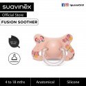 Suavinex Fusion BPA Free 4 to 18 Months Anatomical Silicone Soother (Orange Butterfly)