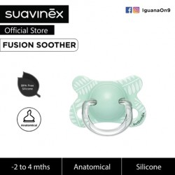 Suavinex Fusion BPA Free -2 to 4 Months Physiological Silicone Soother For Premature Baby (Green Leaves)