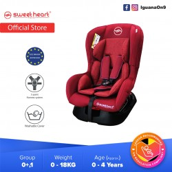 Sweet Heart Paris CS333 Group 01 Baby Car Seat Assurance JPJ Approved MIROS and ECE R44/04 Certified (Red)