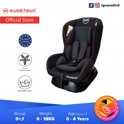 Sweet Heart Paris CS333 Group 01 Baby Car Seat Assurance JPJ Approved MIROS and ECE R44/04 Certified (Black)