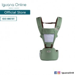 Iguana Online Hip Seat Cotton Soft Baby Carrier BBS101 with Four Seasons Breathable (Green)