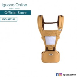 Iguana Online Hip Seat Cotton Soft Baby Carrier BBS101 with Four Seasons Breathable (Yellow)