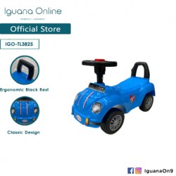 Iguana Online Herbie Beetle Car for Kids Tolo Car Ride On Car TL3825 (Blue)