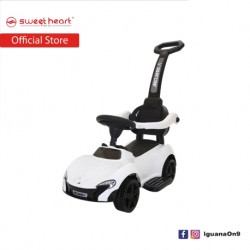 Sweet Heart Paris 3 in 1 Musical Ride On Tolo Car with Push Bar TL613W (White)