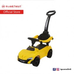 Sweet Heart Paris 3 in 1 Musical Ride On Tolo Car with Push Bar TL613W (Yellow)