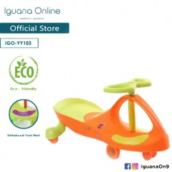 Iguana Online Swinging Plasma Car Yoyo Car Tolo Car Ride On Car Eco Friendly Electricity Free YY103 (Orange)