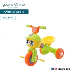 Iguana Online Foldable Portable Cute Children Tricycle Tolo Car Balance Bike with Music and Lights TC03 (Green)