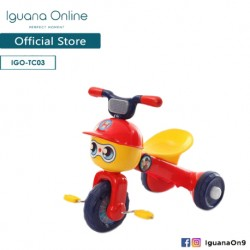 Iguana Online Foldable Portable Cute Children Tricycle Tolo Car Balance Bike with Music and Lights (Red)