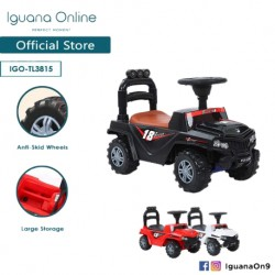 Iguana Online Extreme Off Road Jeep ALL TERRAIN Tolo Car Sport Ride-On Car With Music and Light TL3815 (Black)