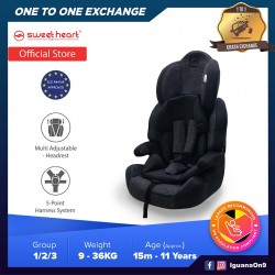 Sweet Heart Paris CS Crown Safety Car Seat Booster with EPS Foam Protection ECE R44/04 (Black)