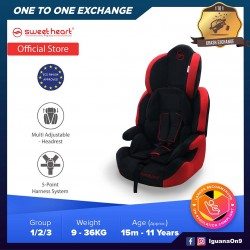 Sweet Heart Paris CS Crown Safety Car Seat Booster with EPS Foam Protection ECE R44/04 (Red)