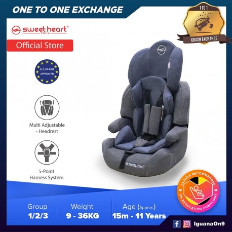 Sweet Heart Paris CS Crown Safety Car Seat Booster with EPS Foam Protection ECE R44/04 (Grey)