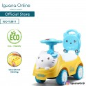 Iguana Online Cute Kitty Cat with Smart Educational Steering Wheels Ride On Car Tolo Car TL3811 Yellow