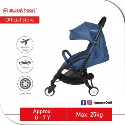 Sweet Heart Paris Compact Stroller Savannah (Blue) with Free Travel Bag