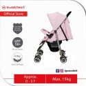 Sweet Heart Paris ST250 Compact Size Stroller with 8 EVA Wheels (Pink)