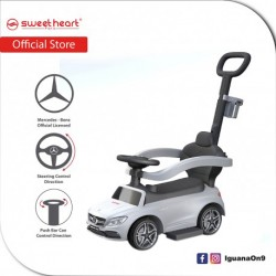 Sweet Heart Paris TL615W 3 in 1 Mercedes-Benz Ride on Tolo Car with Handlebar Toys (White)