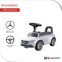 Sweet Heart Paris TL615 3 in 1 Mercedes-Benz Ride on Tolo Car Toys (White)