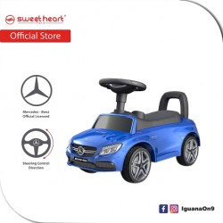 Sweet Heart Paris TL615 3 in 1 Mercedes-Benz Ride on Tolo Car Toys (Blue)