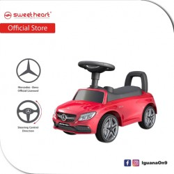 Sweet Heart Paris TL615 3 in 1 Mercedes-Benz Ride on Tolo Car Toys (Red)