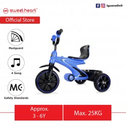 Sweet Heart Paris Sport Multifunctional MC CERTIFICATE Children Tricycle with Anti Skid Pedal TCS77 (Blue)