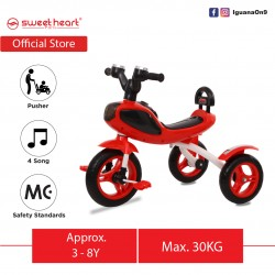 Sweet Heart Paris Children Tricycle with Anti Skid Pedal TC6688 (Red)