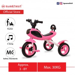 Sweet Heart Paris Children Tricycle with Anti Skid Pedal TC6688 (Pink)