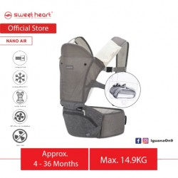 Sweet Heart Paris Breathable Foldable Hip Seat Baby Carrier Bbs Nano Air (Grey)