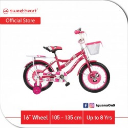 Sweet Heart Paris CB1601 PARIS 16 Inches Single Speed Children Bicycle With Training Wheels (Pink)