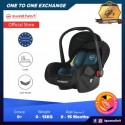 Sweet Heart Paris CS322 Group 0+ Baby Car Seat Assurance Baby Carrier with Rocker Cradle Function Adjustable Canopy JPJ - Blue S