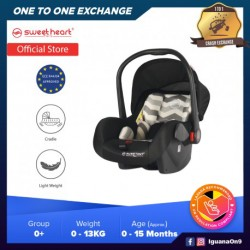 Sweet Heart Paris CS322 Group 0+ Baby Car Seat Assurance Baby Carrier with Rocker Cradle Function Adjustable Canopy JPJ - Curved