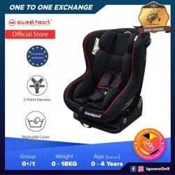 Sweet Heart Paris CS363 Group 0,1 Baby Car Seat Assurance with One-Hand Adjustable Reclining Function (Black)