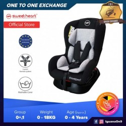 Sweet Heart Paris CS333 Group 0,1 Baby Car Seat Assurance with One-Hand Adjustable Reclining Function (Dark Grey)