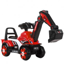 Iguana Online Children Excavator Ride On Construction Car with Music and Light (Black)