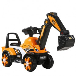 Iguana Online Children Excavator TLE518 Ride On Construction Car with Music and Light (Yellow)