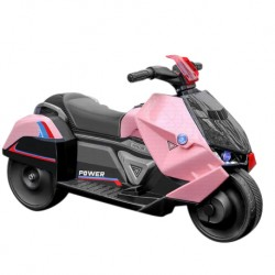 Iguana Online Electrical Battery Bike BC889 Kids Motorcycle Ride On Toys 3 Training Wheels Children Bicycle (Pink)