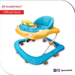 Sweet Heart Paris BW6968 Baby Walker Learn Moving Tolocar Ride On Car with Activity Tray Music with Steering Wheels (Azure Oran)