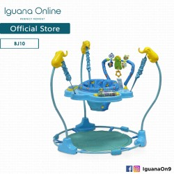Iguana Online Blue Circus BJ10 Baby Jumper Cute Animal Walker with Cute Cartoons Activity Tray (Blue)