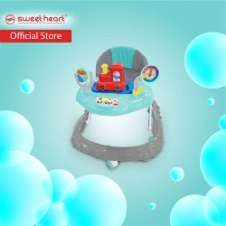 Sweet Heart Paris BW220 Multi Height Adjustable Baby Walker with Music and Light (Silver Mint)