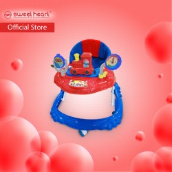 Sweet Heart Paris BW220 Multi Height Adjustable Baby Walker with Music and Light (Lapis Red)