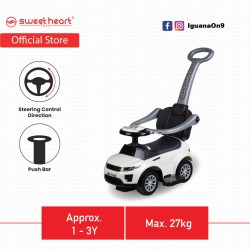 Sweet Heart Paris TL614W 3 in 1 Walker-Riding-Stroller Ride on Car (Limited Edition White)