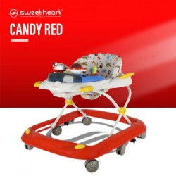 Sweet Heart Paris BW1668B Bluetooth Music Baby Walker Cute Animal Walker with Cartoons Learning Toys (Candy Red)