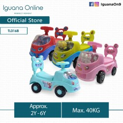 Iguana Online Musical Ride On Car TL3168 Tolo Car Superheroes Cute Kitty Princess (Red)