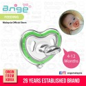 Korea Ange Pacifier (4-12 months) with Soft Sensory BPA Free Silicone and Case
