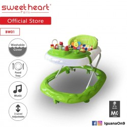 Sweet Heart Paris Baby Walker BW01 (Green) With 3 Height Adjustment