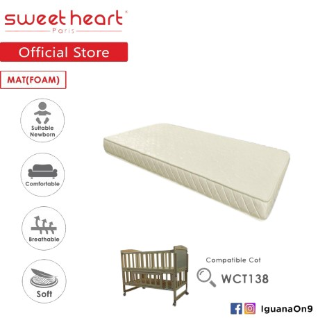 Sweet Heart Paris 5 inch Thickness Foam Mattress For SHP Wooden Cot WCT138 and WCT118\\\'\''