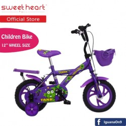 'Sweet Heart Paris CB1201 TANK Children Bicycle (New Purple) For Children Age 2 To 4 Years'