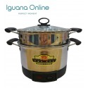 Iguana Online 22CM Stainless Steel Double Layer Electric Multi Cooker Pot