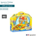 Iguana Online Kid Role Pretend Play DIY Toys With Mini Suitcase (Color Dough Series)